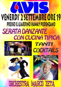 Serata danzante a Podenzano @ Giardino Haway | Podenzano | Emilia-Romagna | Italia