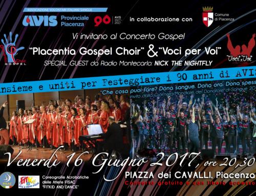16 giugno in Piazza Cavalli con la Giornata Mondiale del Donatore di Sangue e 90esimo compleanno