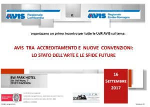 Avis, tra accreditamento e nuove convenzioni: lo stato dell'arte e le sfide future @ BW Park Hotel   Piacenza   Emilia-Romagna   Italia