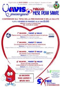 Avis Prevenzione - Maggio mese della salute @ Sala Consigliare del Comune di Cadeo | Cadeo | Emilia-Romagna | Italia