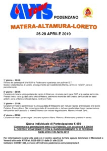 Gita a Matera - Altamura - Loreto