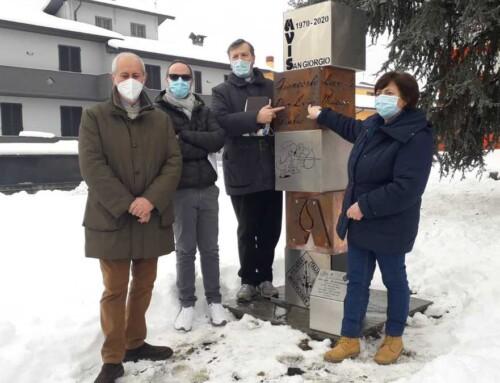 Cinquant'anni di solidarietà: Avis San Giorgio festeggia l'anniversario con un monumento